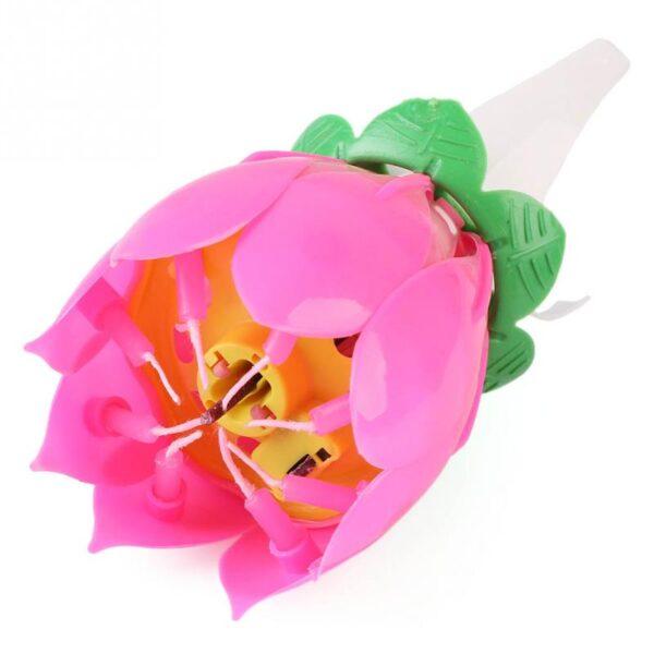 Flor Luminosa com Velas Som e Estrelinhas-0
