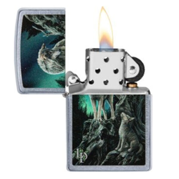 """ZIPPO """"Lisa Parker 2Wolfs Mointain""""-8675"""
