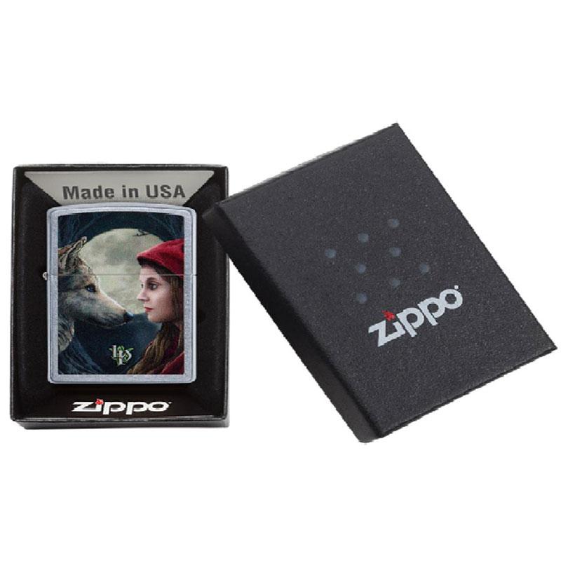 "ZIPPO ""Lisa Parker Wolf + Woman""-8670"