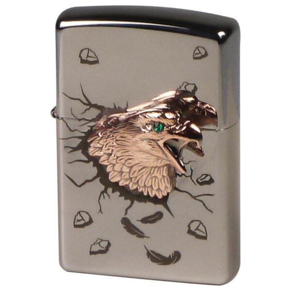 "ZIPPO ""Golden Eagle"" chrome high polished emblem-0"