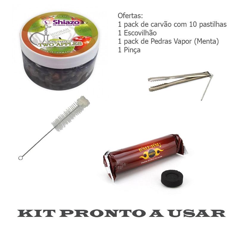 """Kit 80cm Shisha """"HORUS"""" Cristal-9483"""
